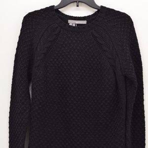360 Sweater Women's Black CREW NECK SWEATER Sz S